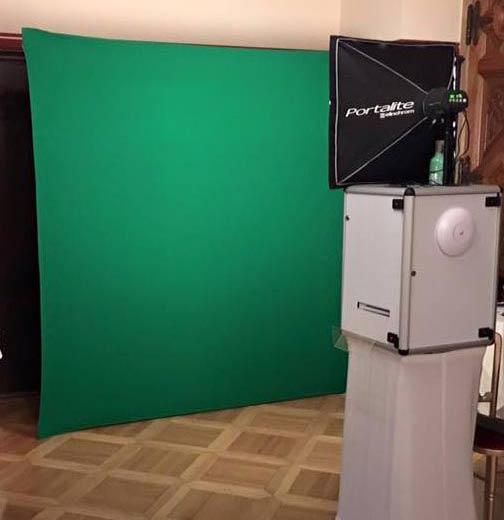 Fotobox Greenscreen Setup