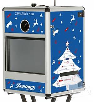 Fotobox Branding Weihnachtsfeier Schrack Technik